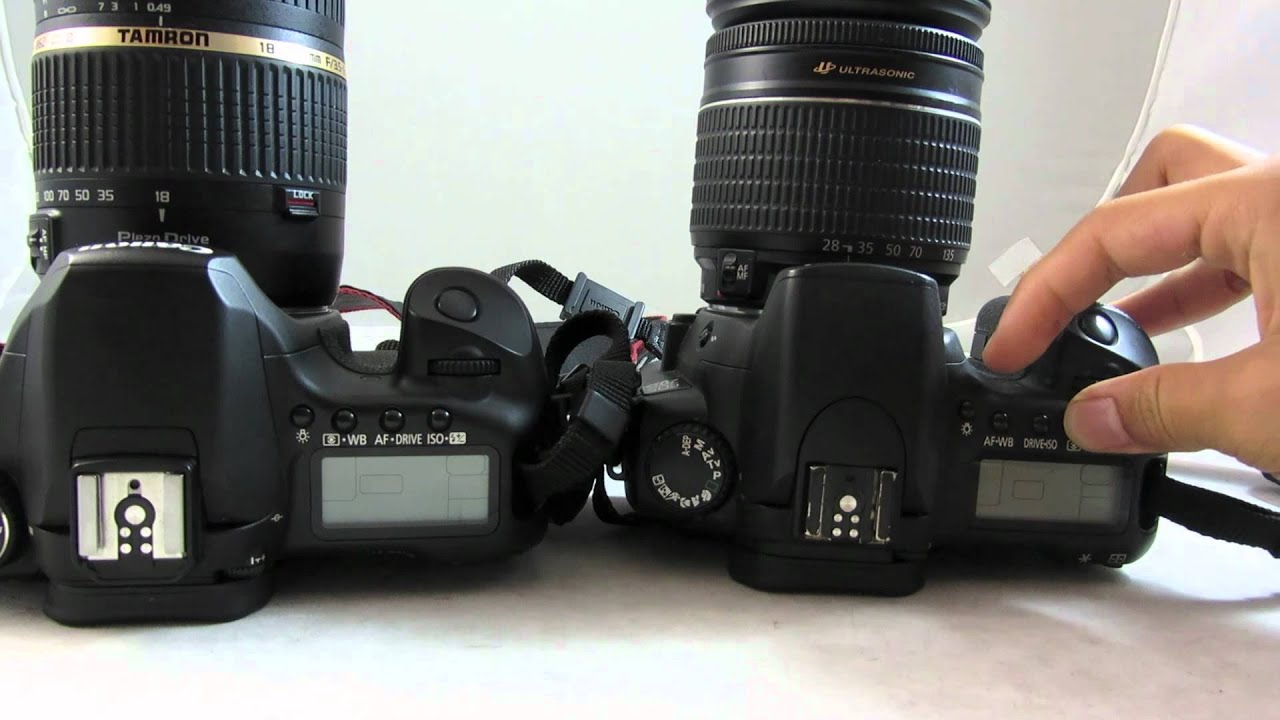 Canon EOS 20D VS Canon EOS 40D DSLR Camera Comparison ...