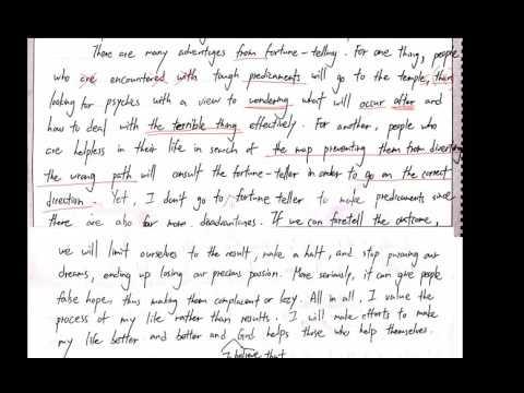 【葉中如老師-Ruth's English】19 英文作文講解 Fortune telling Part 2