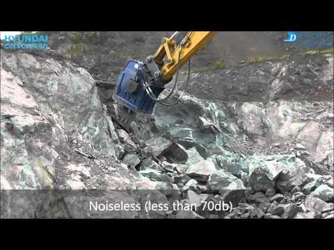 Vibro ripper DBL350 for basalt quarry in Japan