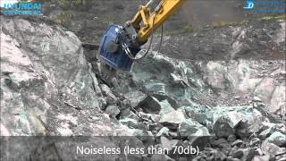 Vibro ripper DBL350 for basalt quarry in Japan