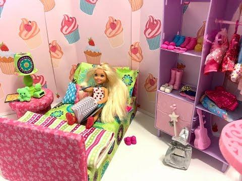 Barbie Chelsea Bedroom Morning Routine!!