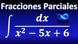 264. Integral mediante fracciones parciales: factores lineales distintos
