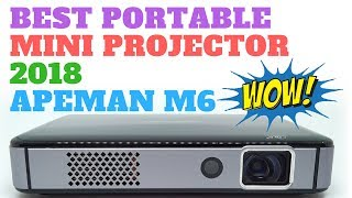 Best Portable Mini Projector 2018 - Apeman M6
