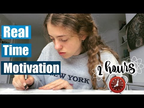 Real Time Study With Me *with break* 💪 2 Hours of Productivity & Motivation