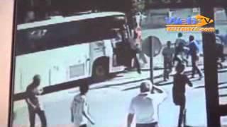 Kütahya Servis otobüsü kamyonete çarptı 2 kişi yaralandı