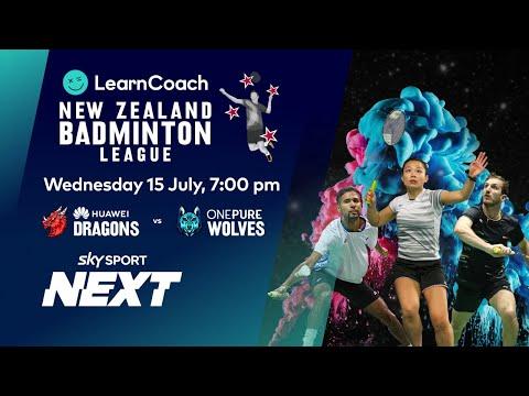 NZ Badminton League | Huawei Dragons v OnePure Wolves | Sky Sport Next