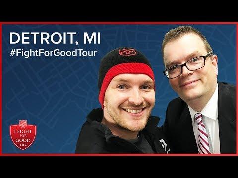 Chris Strub's 2017 @SalvationArmyUS #FightForGoodTour Stop #8: Detroit, Michigan