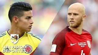 James vs. Bradley: confirmados los 11 titulares de Estados Unidos y Colombia