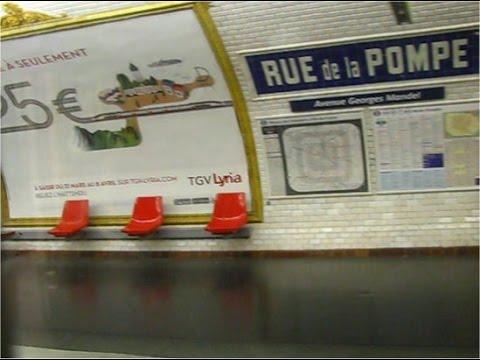 station rue de la pompe ligne 9 du m tro paris youtube. Black Bedroom Furniture Sets. Home Design Ideas