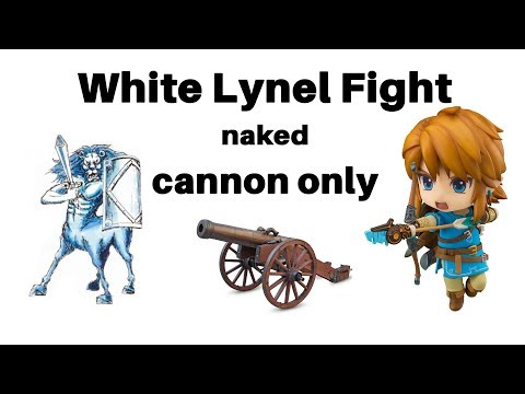 Zelda: Fighting White Lynel Naked With Only A Goron Cannon