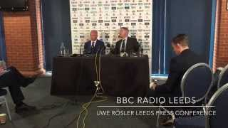 Leeds United Press Conference: Uwe Rosler and Adam Pearson