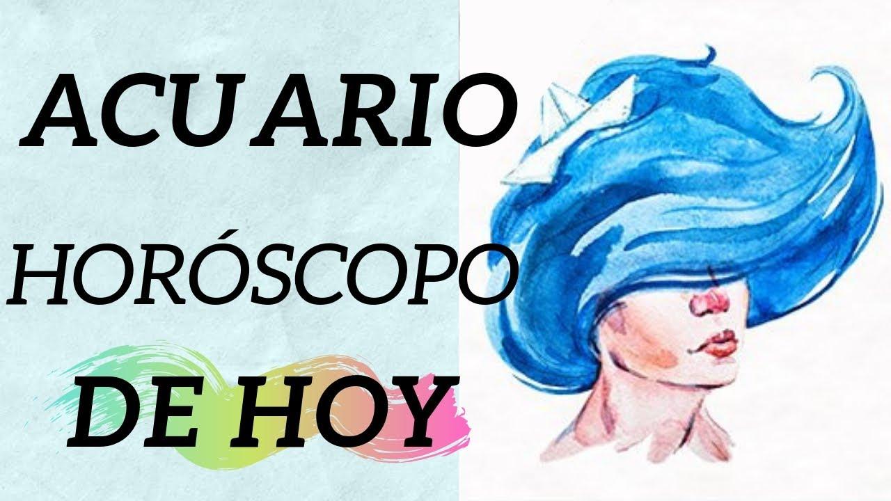 Horoscopo ACUARIO HOY Martes 4 De Agosto 2020