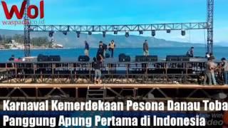 Karnaval Kemerdekaan Pesona Danau Toba: Panggung Apung Pertama di Indonesia #waspadaonline