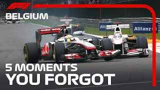 5 Moments You Forgot | Belgian Grand Prix