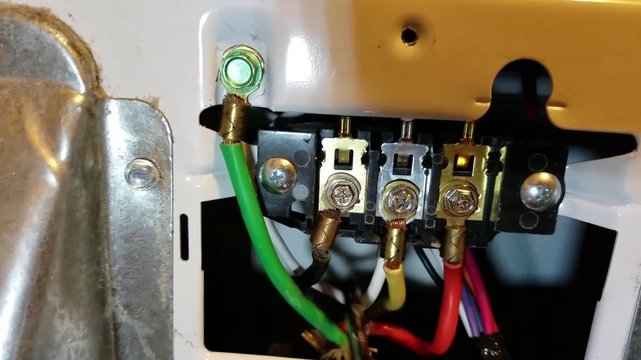 how to install a electric dryer cord 3 or 4 prong ground wire rh youtube com Dryer Hookup Wiring -Diagram GE Dryer Plug