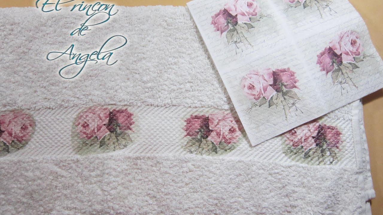 Decoupage sobre tela con servilletas decoradas decoupage for Decoupage con servilletas en muebles