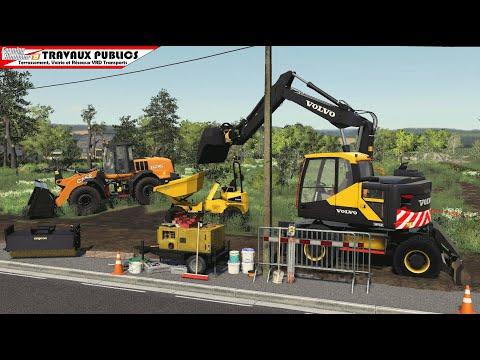 Décaissement Voirie Travaux publics | Farming Simulator 19
