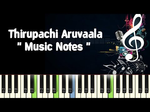 AR Rahman /tirupachi aruvale /Piano Notes /Midi Files /Karaoke