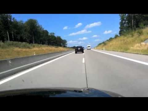 Drive on the Autobahn to Dresden Monday August 5th 2013 in an Audi A6