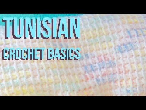 Tunisian Crochet Basics Tutorial, Foundation Row and Tunisian Simple Stitch