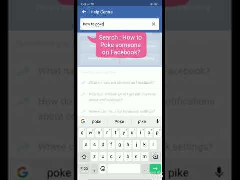 how do you check pokes on facebook app