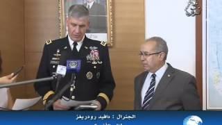 أحمد قايد صالح يستقبل الجنرال دافيد رودريغز، قائد الأفريكوم