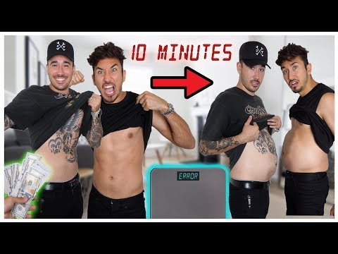 Who Can GAIN The Most Weight In 10 Minutes *100,000 CALORIES* (WINNER GETS $10,000) thumbnail