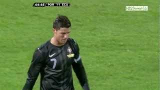 Cristiano Ronaldo Vs Ecuador Home (English Commentary) - 12-13 HD 1080i By CrixRonnie