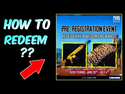 Pubg Lite || How To Get Pre-Registration Reward || Tiger M416 (Hindi)