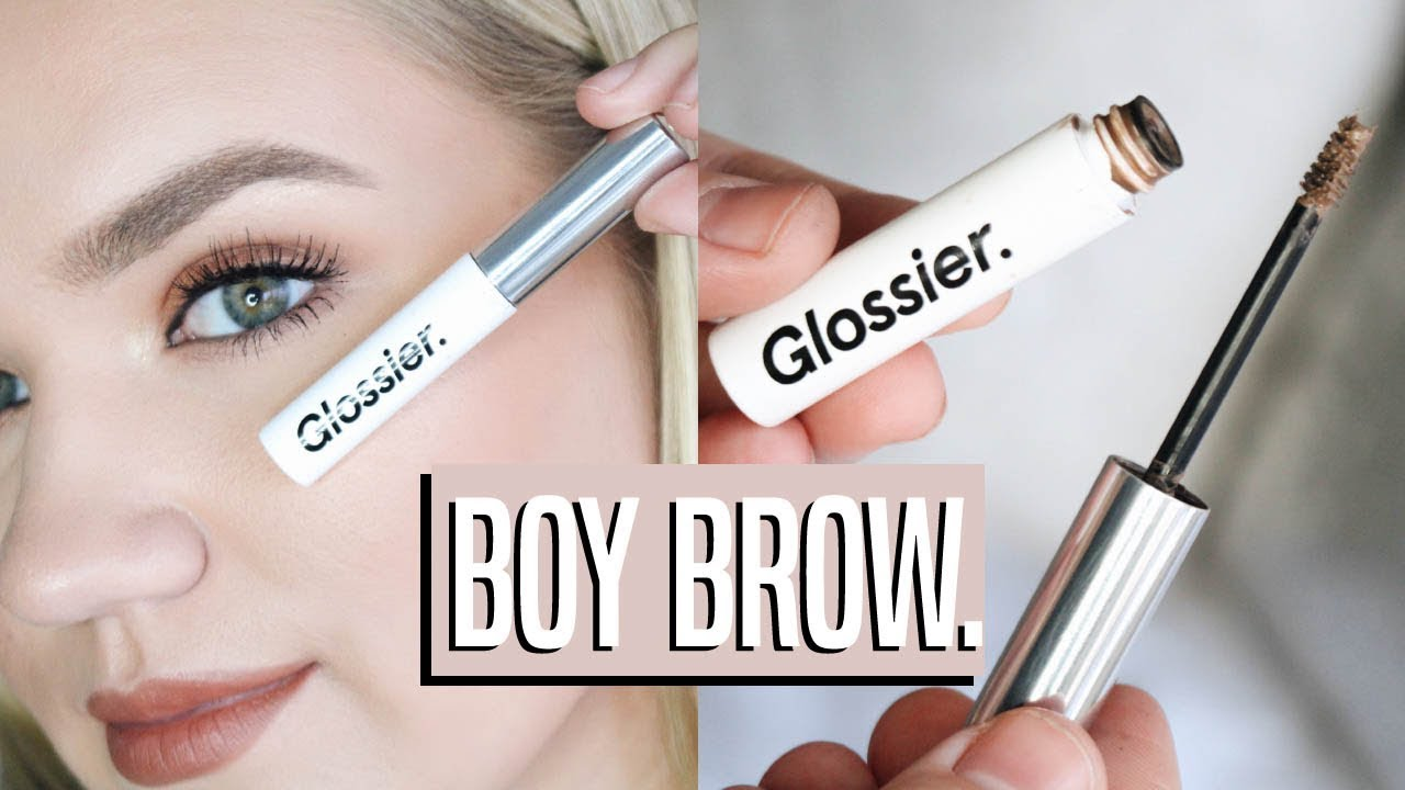 glossier boy brow routine natural brows youtube