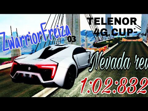 Asphalt 8 - TELENOR 4G CUP - NEVADA rev.(W Motor Lykan Hypersport) 1:02:832
