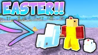NEW EASTER UPDATE!! NEW WEAPON, HATS, + MORE! (Roblox Booga Booga)