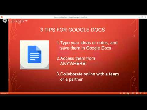 Using Google Apps to Work Anywhere!
