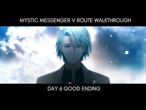 Good End Walkthrough - V Route Day 6 Mystic Messenger