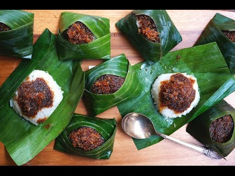 Pulut Inti-Glutinous Rice With Sweet Coconut - YouTube