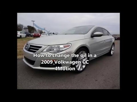 How to change the oil in a 2009 Volkswagen Passat CC 4Motion