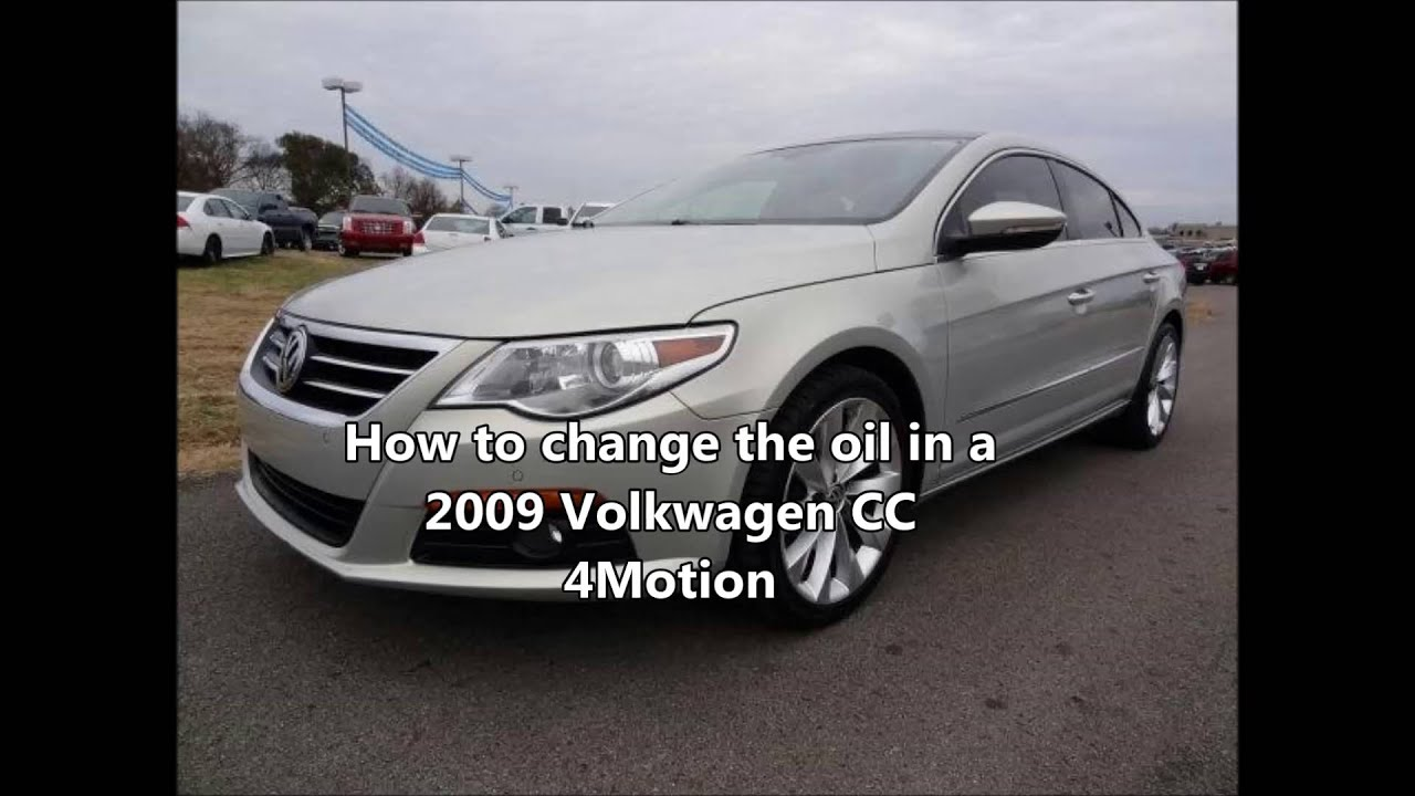 How To Change The Oil In A 2009 Volkswagen Pat Cc 4motion