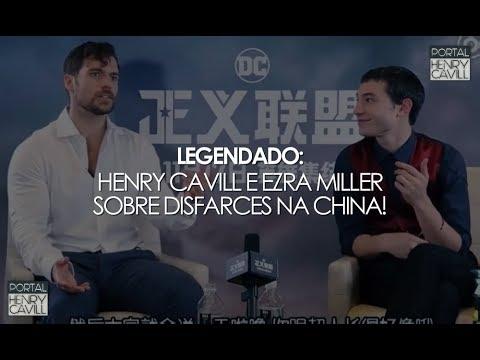 Legendado Henry Cavill e Ezra Miller falam sobre disfarces e mais!  Liga da Justiça