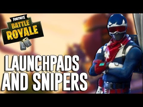 Launchpads and Snipers!! Fortnite Battle Royale Gameplay - Ninja