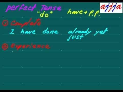 English Grammar Perfect Tense 01