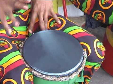 Guyana.. Drums of Rastafar-I in Georgetown City