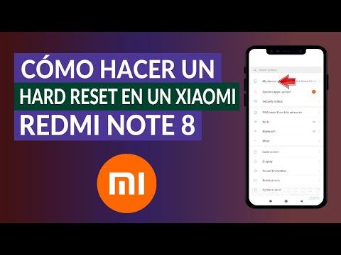 Cómo Hacer un Hard Reset o Restablecer de Fábrica un Xiaomi Redmi Note 8