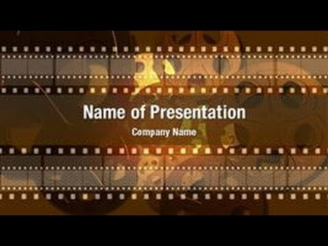 movie reel powerpoint video template backgrounds, Modern powerpoint
