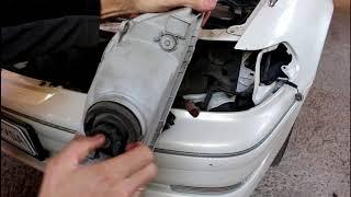 Toyota Mark II Тойота Марк 2 JZX 101 1998 года Замена ламп в фаре на светодиод