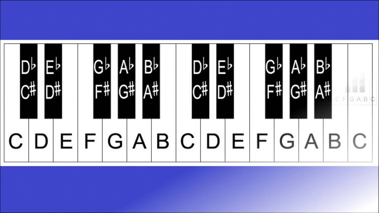 Piano Lesson 7  How To Label A 32  36  37  49  54  61  76 And 88 Key Keyboard