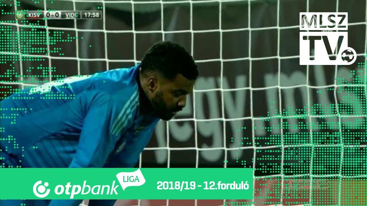 Nego Loic gólja a Kisvárda Master Good - Mol Vidi FC mérkőzésen