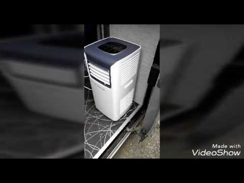 Portable A/C aircon installation in camper van RV part 1( talk trough)