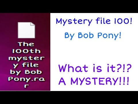 The 100th mystery file by Bob Pony! - Part 1