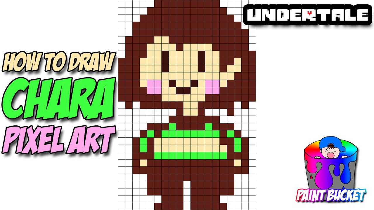 How To Draw Chara Undertale Pixel Art Step By Step Drawing