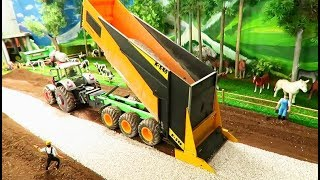 Rc TRACTOR & farm equipment ACTION at Construction site -  machinery at work